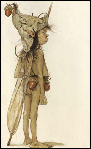 """Drawings of elves"" by French illustrator Jean-Baptiste Mange"